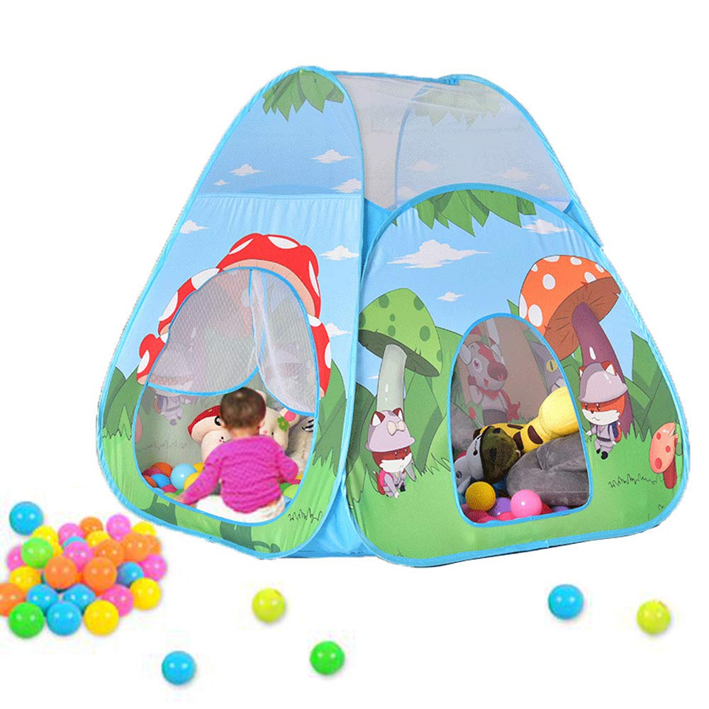 Play Tent for Kids Princess Foldable Pop Up Castle Tent Cartoon Mushroom Children Playhouse for Girls Boys Infant Indoor and Outdoor Fun Best Christmas Gift