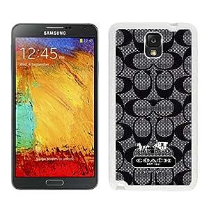 Fashionable Coach White Samsung Galaxy Note 3 N900A N900V N900P N900T Screen Cellphone Case Durable and Fashionable Case