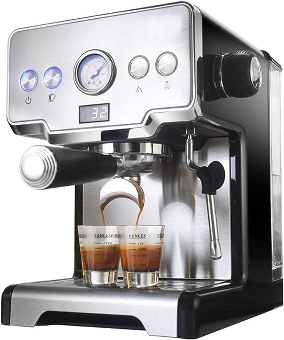 Máquina De Café Exprés Con Bomba De 1.7l, Cafetera, Pantalla Led, Función Para Mantener El Calor, Agua Duradera Y Fácil De Agregar, Para Café Con Leche/Capuchino: Amazon.es: Hogar