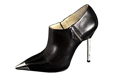 84b6ef746761 Michael Kors Zady Platform Ankle Bootie Metallic Heel Black Pointy Toe Shoe  (8.5)