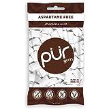 The PUR Company  | Sugar-Free + Aspartame-Free Chewing Gum  | 100% Xylitol  | Chocolate Mint | Vegan + non GMO  | 55 Pieces per Bag