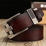 Men'S Belt Leather Belt Men Pin Buckle Cow Genuine Belts For Men 130Cm High Quality Mens Belt
