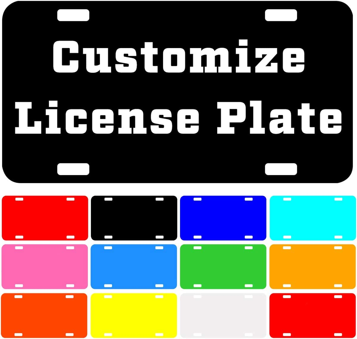Guoyuan Chihuahua Fiesta Personalized License Plate Car,Durable Aluminum Metal Car Tag Novelty Home Decoration,Novely Aluminum License Plates 6 X 12 for Car