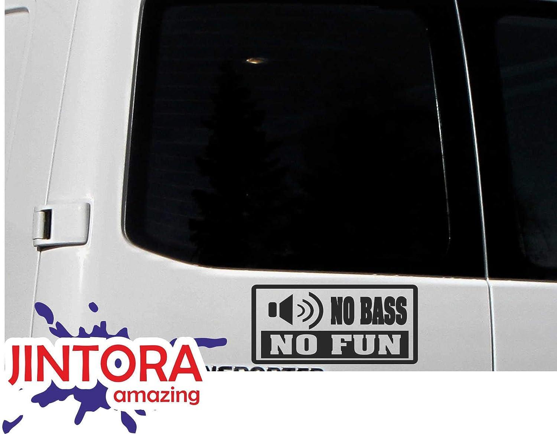 207x99 mm rosso nessun basso non /è divertente Adesive da Auto Auto//finestra // laptop//finestra JINTORA sticker//Adesivo JDM//Die cut