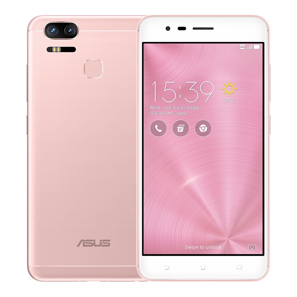 Asus Zenfone 3 Zoom Ze553kl 4gb Ram 64gb Rom 55 Inch 32gb 4g Dual Sim Factory Unlocked International Stock No Warranty Rose Gold Cell Phones