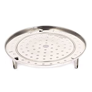 uxcell Stainless Steel Food Steaming Steamer Canning Rack Tray Stand Cookware 10 Inch