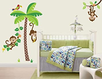 CherryCreek Decals Jungle Monkeys Giant Peel Stick Wall Sticker - Wall decals jungle