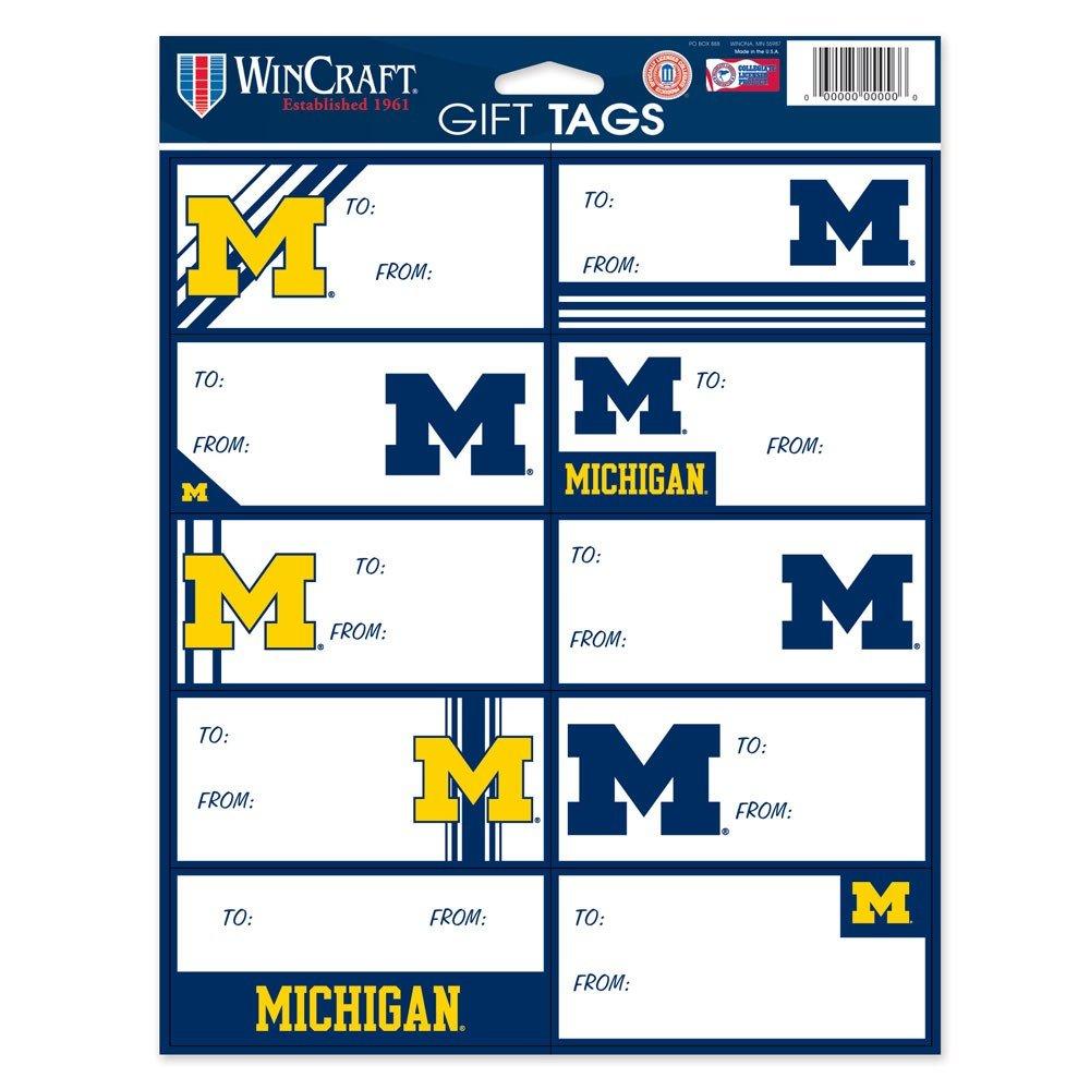 Wincraft NCAA-Gift Tag Sheet