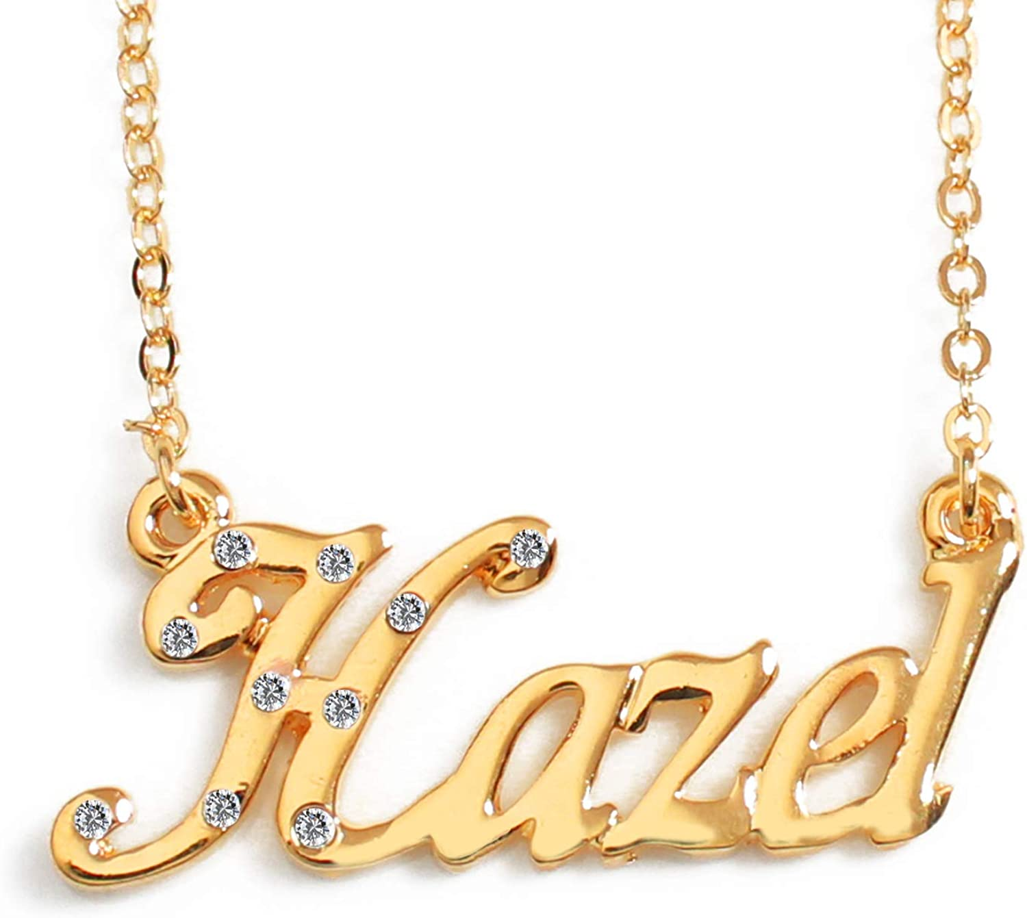 18ct Gold Plated Zacria Jordan Custom Name Necklace Personalized