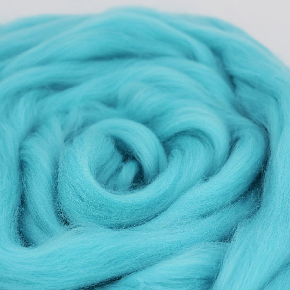 Needle Felting Wool Roving Top DIY Craft Materials for Loom Weaving Merino Tapestry 2.2Yards Black-3.5OZ