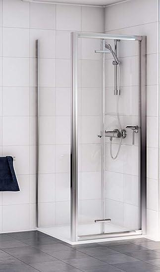 Aqualux 1160413 - Mampara de ducha (tamaño: 1850x760cm): Amazon.es: Bricolaje y herramientas