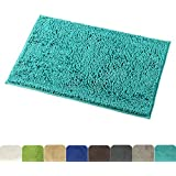 Mayshine 20x32 Inch Non Slip Bathroom Rug Shag Shower Mat Machine Washable Bath Mats With Water Absorbent Soft Microfibers Of Turquoise
