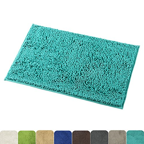 Mayshine Non-Slip Bathroom Rug Shag Shower Mat Machine-Washable Bath Mats with Water Absorbent Soft Microfibers, 20