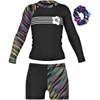 Long Sleeve Swimsuits for Kids 2 Pieces Set Swimwear Quick Dry Surfing Wetsuit for Girl/Boy 5-12 Years