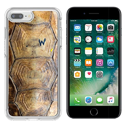Luxlady Apple iPhone 7/8 Clear case Soft TPU Rubber Silicone Bumper Snap Cases iPhone7/8 IMAGE ID: 34313168 tortoise - Shell Images Tortoise