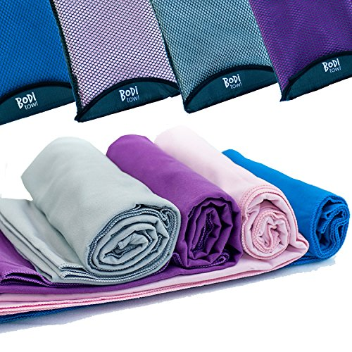Microfibre Travel Towel - Sports Gym Swimming Yoga Pilates Bikram Bathroom Hair Beach Towels - Quick Dry - Large - Extra Large - XL - Giant - Small When Folded Free Bag - 100% Money Back Satisfaction Guarantee!