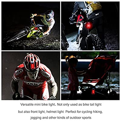 refun LED Safety Light (4 Pack) Waterproof Red Flashing Bike Rear Tail Light with Free Clip on Velcro Straps for Running, Walking, Cycling, Helmet etc