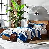 """Rivet Eastport Industrial Bed, 86.4"""" W, Oak Finish"""