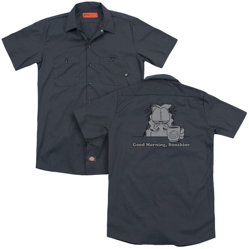 Garfield Good Morning Sunshine Adult Work Shirt