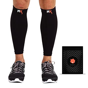 93750595ad Calf Compression Sleeves - Best Compression Calf Support / Shin Guards / Calf  Guards for Running, Cycling, Crossfit, Hiking, ...