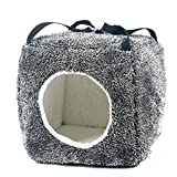 Gray Soft Square Pet Cat Dog Bed House by PrettyPet! Pet Sleeping Bag for Small and Medium Dogs and Cats. Cheer your pets and keep them in comfort! Review