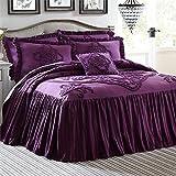 Brylanehome Madison Flounce Bedspread (Eggplant,Queen)