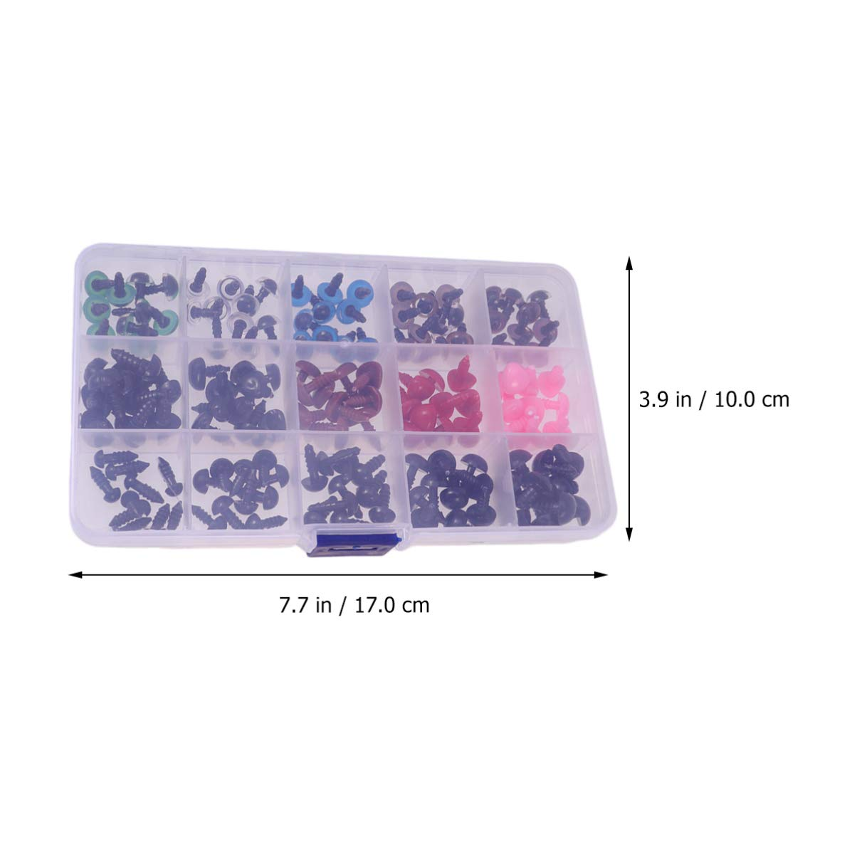 Healifty Nasi di Plastica per Occhi di Sicurezza da 150 Pezzi Fissati con Rondelle per Pupazzi di Peluche per Pupazzi di Bambole di Orsi