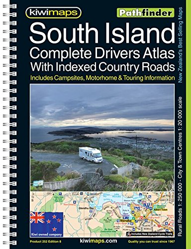 South Island Complete Drivers Atlas With Indexed Country Roads