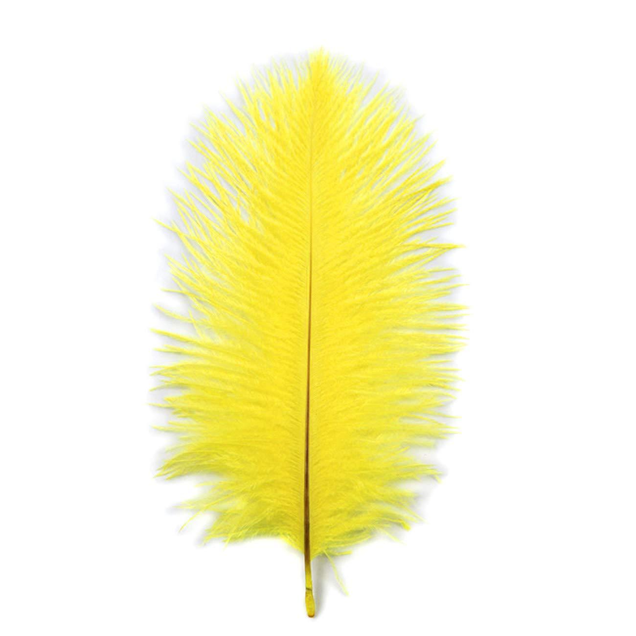 Tinsow 15 Pcs Natural 10-12inch Ostrich Feathers Plume Wedding Centerpieces Home Decoration Festival Supplies 25-30cm White