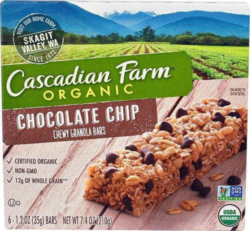 - Cascadian Farms Organic Chewy Granola Bars Chocolate Chip -- 6 Bars - 2 pc
