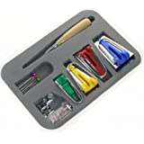 BIGTEDDY - Fabric Bias Tape Maker Kit for Sewing Quilting Awl and Adjustable Binder Foot w/ Case ( Set of 16)