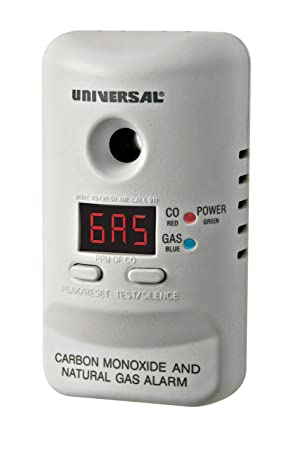 Universal Security Instruments MCND401B M Series Plug-In Carbon Monoxide and Natural Gas Alarm with 9-Volt Battery Backup *2-Pack*