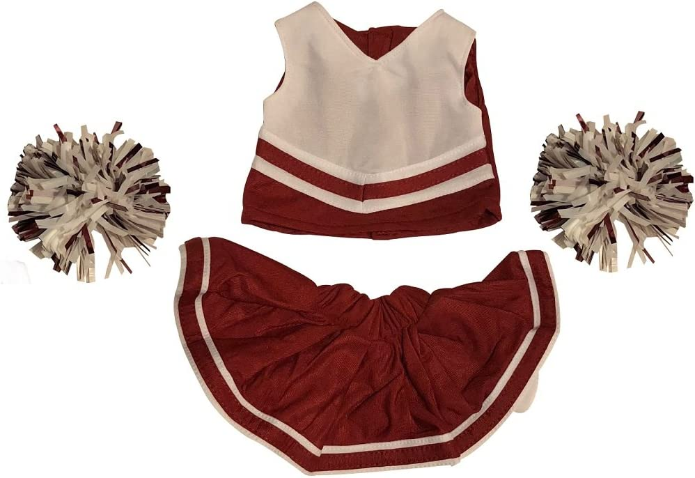 Teddy Bears Clothes fit Build a Bear Tennis Outfit Cheerleader Costume Trainers