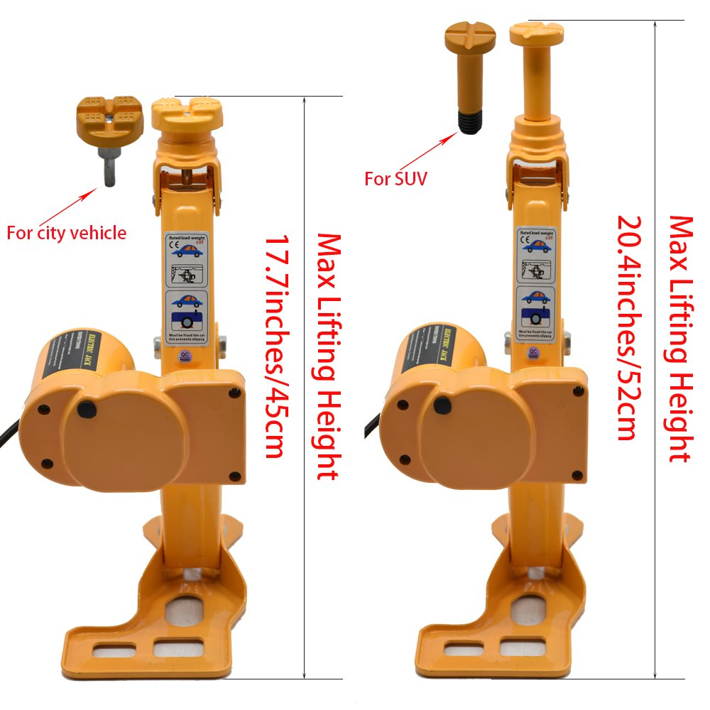 MarchInn 12V DC 3T(6600lb) Electric Car Jack - Double Saddles for Vehicle and SUV - and Electric Impact Wrench with Wireless Remote by MarchInn (Image #4)