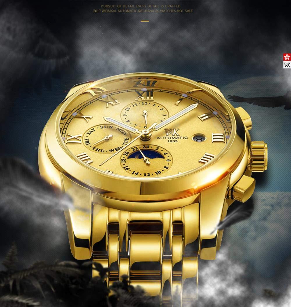 Herrklockor, helt automatisk affärsmekanisk klocka Between Gold and Black