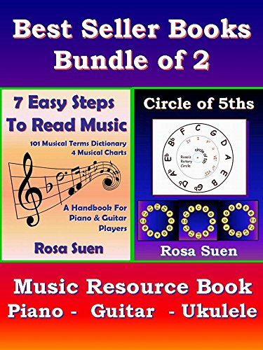 Music Theory Books Bundle of 2  -  7 Easy Steps to Read Music & Circle of 5ths -  Music Resource Book: Music Resource Book for Piano, Guitar & Ukulele players