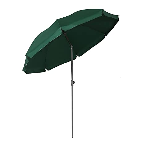 232a76644a1 Sekey® Ø 6.5ft   2m Garden Parasol Umbrella Outdoor Sun Shade for  Beach Pool Patio Umbrellas Green Round Sunscreen UV25+  Amazon.co.uk   Garden   Outdoors