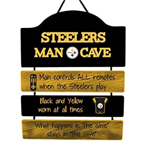 FOCO NFL Unisex-Adult Team Logo Mancave Man Cave Hanging Wall Sign