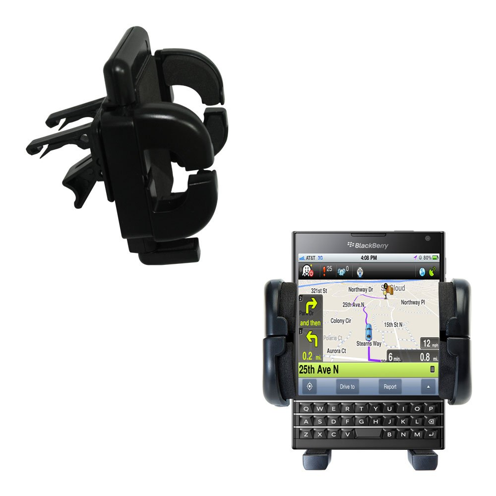 Gomadic Air Vent Clip Based Cradle Holder Car / Auto Mount suitable for the Blackberry Passport