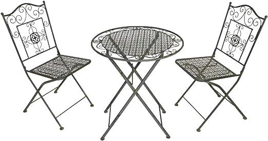 Lesli Living – Set de Meubles de bistrot en métal, pour Le Jardin ...