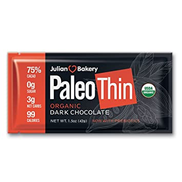 Amazon.com: Paleo Thin Keto Dark - Barras de chocolate ...
