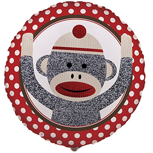 Halloween Sock Monkey - BirthdayExpress Sock Monkey Red Foil