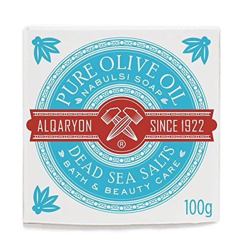 Alqaryon Dead Sea Salts & Olive Oil Bar Soap, Bath & Beauty Care, Pack of 4 Bars 100g