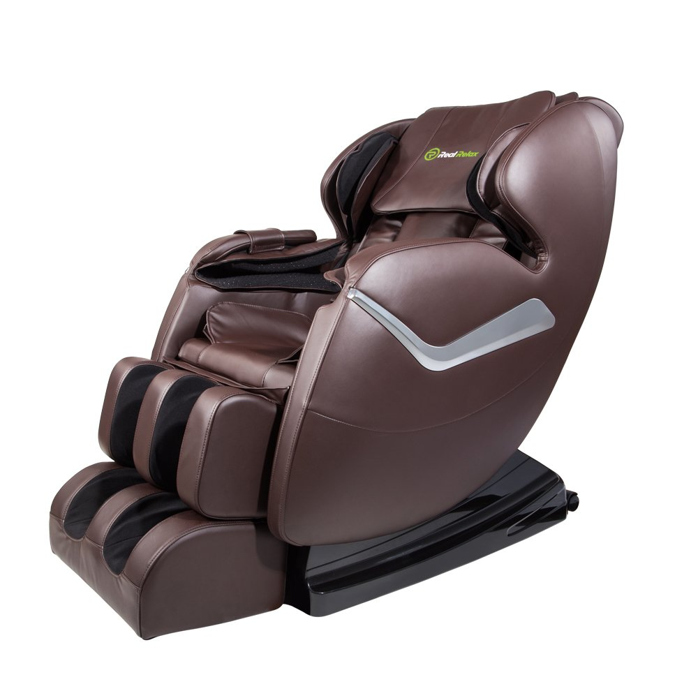 10. Real Relax Massage Chair Recliner with Heat and Foot Rollers(Brown)