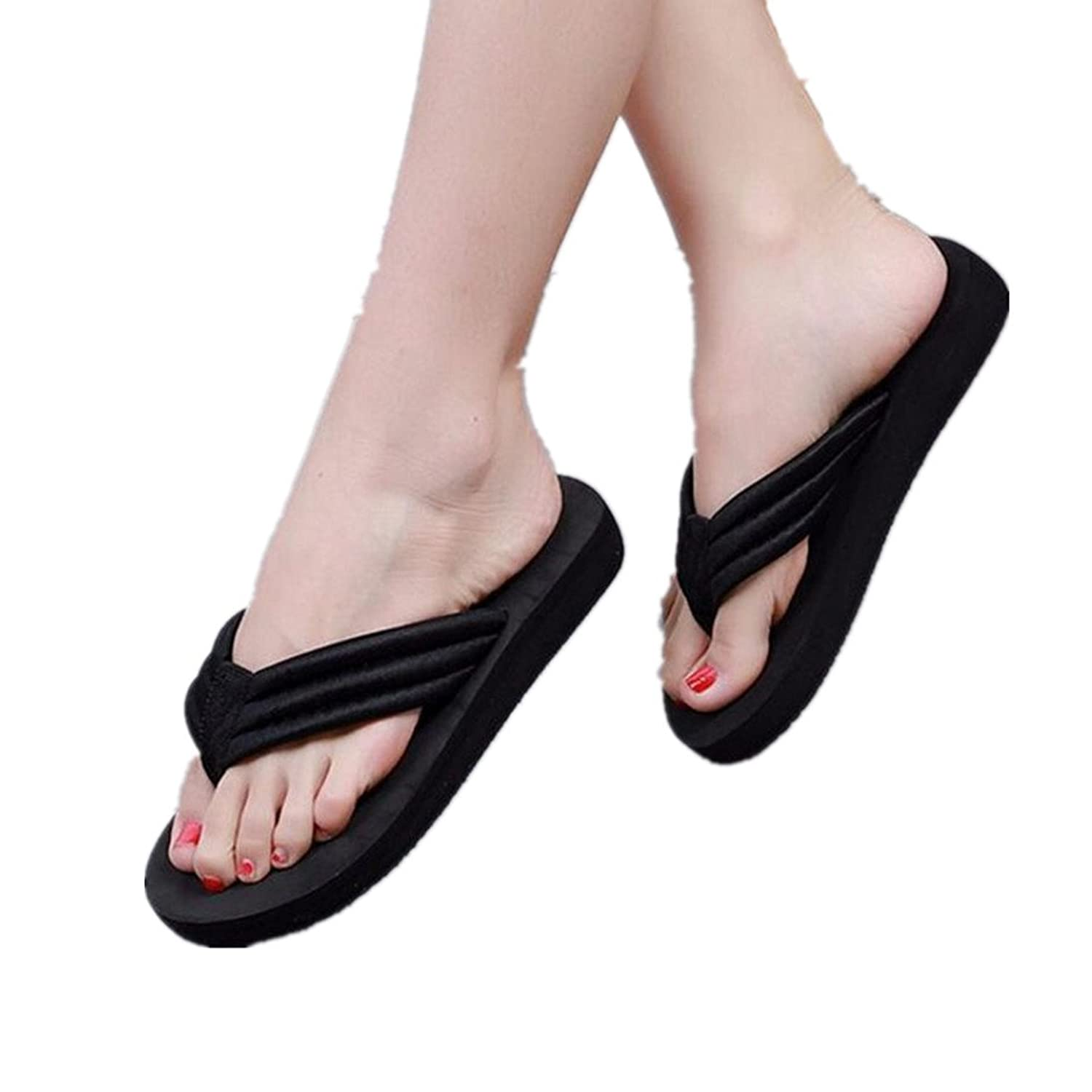 Fheaven Women Summer Slipper Casual Sandals Ankle Flat Strappy Gladiator T-Ring Flip Flops Shoes