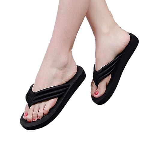 6854ae320 Fheaven Womens Flip Flops Summer Casual Slippers Flat Sandals Open Toe  Beach Shoes (US