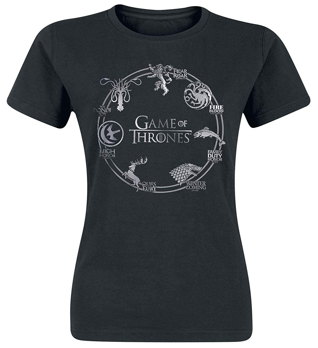 Game Of Thrones Circle Logo Maglia donna nero