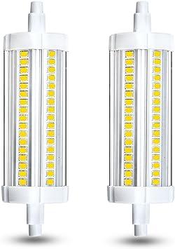 Klarlight Led R7s 118mm 15 Watt T3 J Type Led Bulb J118 Halogen 150 Watt Double Ended Base Replacement Light Bulbs Warm White J118 Led Bulb For Workshop Lighting Amazon Com