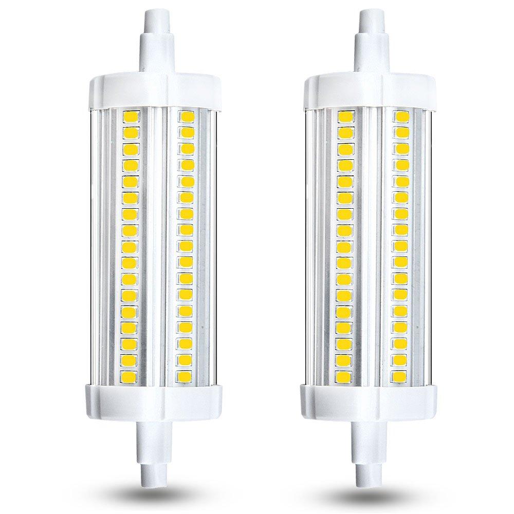 Klarlight 15 watt t3 r7s led 118mm j118 halogen 150 watt equivalent daylight double ended led light bulbs 120v quartz tube lamps replacement for security