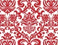 Bundleofbeauty Ty871a - 24pack Valentines /Christmas Red and White Flourish Damask Gift Wrap Tissue Paper